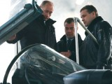 В.В.Путин и Д.А.Медведев беседуют с заслуженным летчиком-испытателем России С.Л. Богданом (г. Жуковский, ЛИИ им. М.М. Громова, 20 февраля 2008 г.)