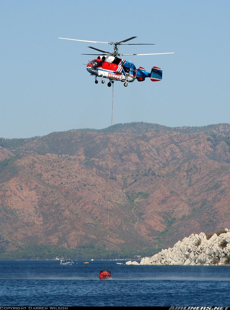 В Турции при тушении пожара разбился украинский вертолет Ка-32 ...
