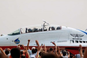 Стрижи на аэродроме Кубинка 14.08.2010