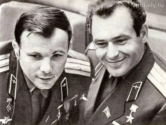 Ю.А.Гагарин и Г.Титов