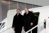 В.Путин и Д.Медведев в Жуковском