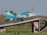 Взлет Су-25УТГ с тренажера НИТКА