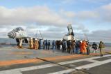 МиГ-29КУБ на палубе