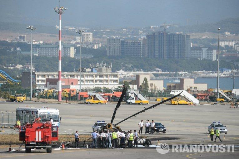Место катастрофы Ми-8