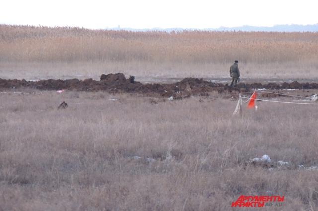 Самолёт буквально ушёл под землю. Фото: АиФ/ Надежда Кузьмина