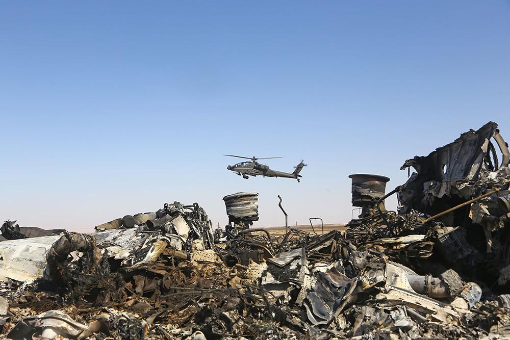 Место крушения самолета A-321