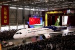 В Шанхае представлен первый самолет C919
