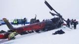 Место катастрофы Ми-8Т. Фото: пресс-служба ГУ МЧС по Красноярскому краю