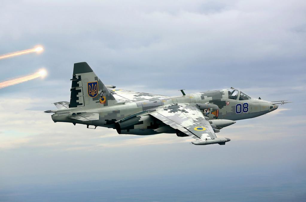 Самолет Су-25 украинских ВВС