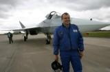 Сергей Богдан и его «подопечный», самолет 5-го поколения Т-50