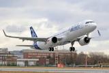 Взлет A321neo с двигателями CFM