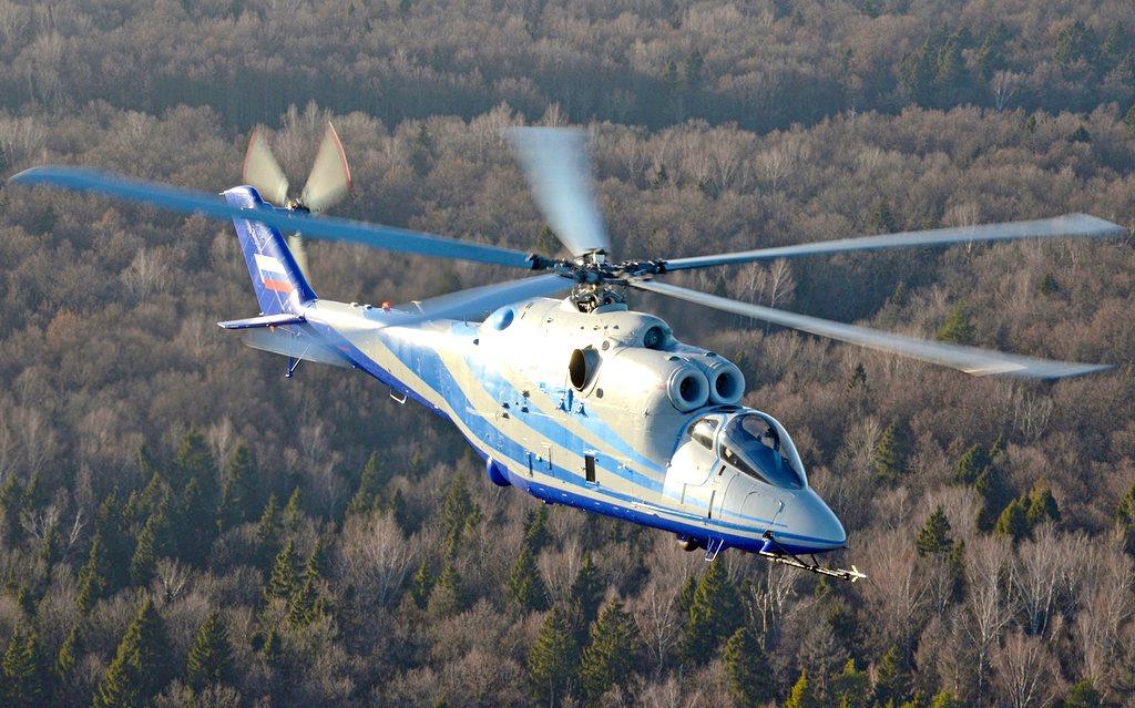 Демонстратор — летающая лаборатория на базе боевого вертолета Ми-24К