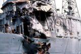 Повреждения, нанесённые американскому фрегату «Старк» иракскими крылатыми противокорабельными ракетами «Экзосет»