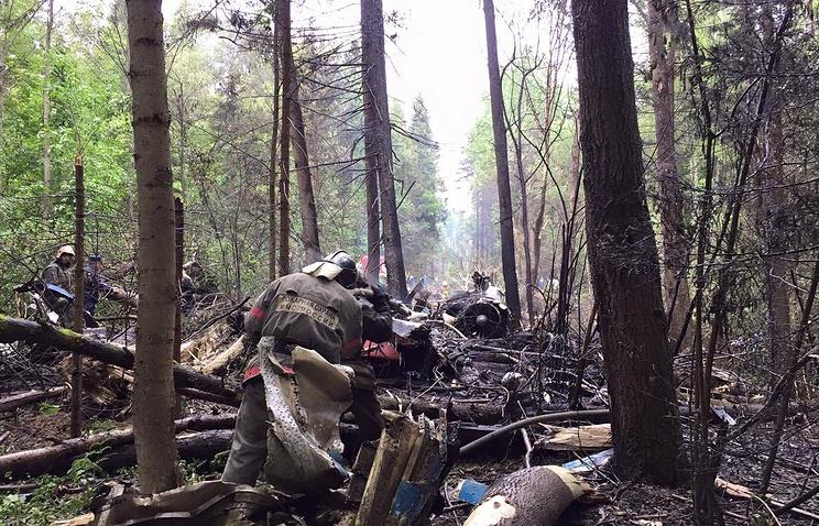 На месте катастрофы Су-27
