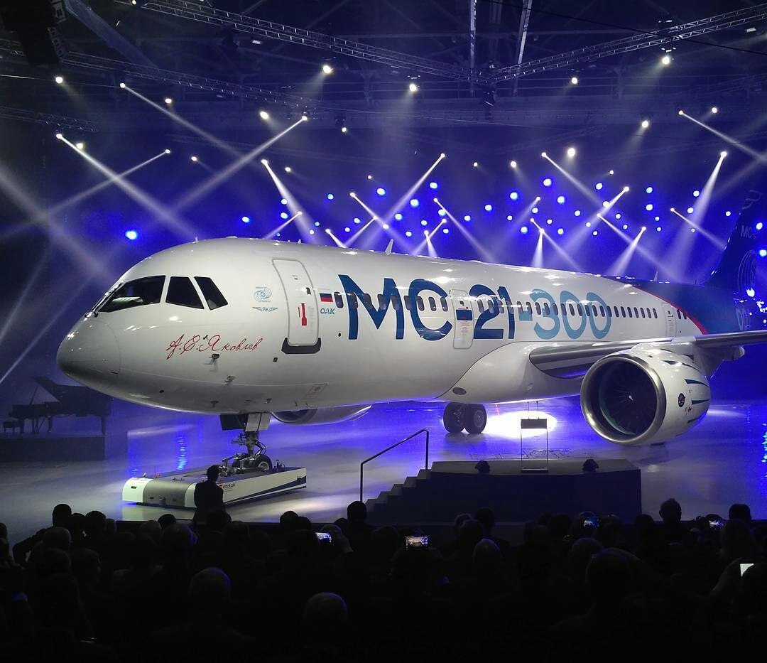 Выкатка самолёта МС-21 в Иркутске