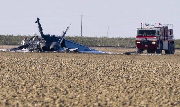 F/A-18C потерпел катастрофу