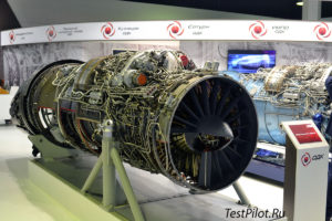 Двигатель АЛ-41Ф-1С на МАКС 2015