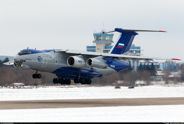Летающая лаборатория Ил-76ЛЛ бортовой номер 76529 (зав. номер 073410308) ЛИИ им. М.М. Громова, аэр. Жуковский, 17 ноября 2016 г.