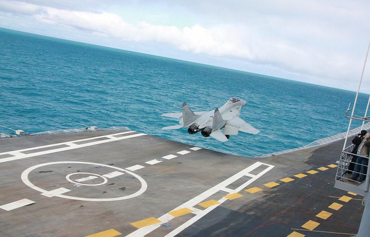 Взлет МиГ-29К