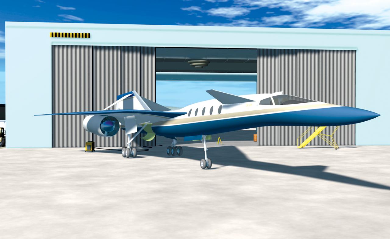 Возможный внешний вид сверхзвукового пассажирского самолета Gulfstream