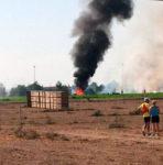 Место катастрофы Eurofighter ВВС Испании