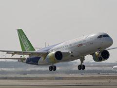 первый полет второго летного опытного образца китайского пассажирского самолета С919