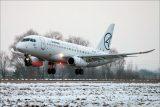 первый испытательный полет самолета Sukhoi Superjet 100 (SSJ100) с законцовками крыла