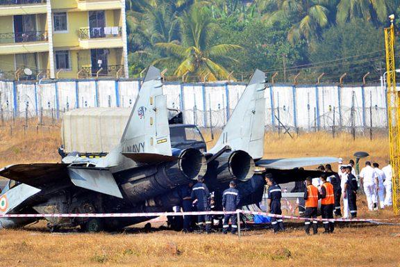 Авария МиГ-29К ВВС Индии