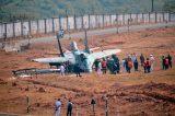 Потерпевший аварию корабельный истребитель МиГ-29К авиации ВМС Индии. Ганза (Гоа), 03.01.2018 (с) PTI