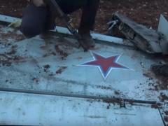 Крыло сбитого Су-25