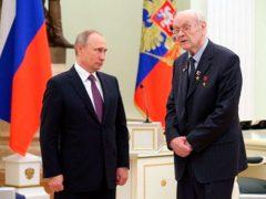 Г. А. Ефремов на церемонии вручения золотой медали «Герой Труда Российской Федерации» в Кремле. Май 2017 года.