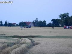 Место катастрофы МиГ-29 ВВС Польши
