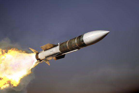 Запуск маршевого двигателя ракеты К-37/ РВВ-БД - AA-13 ARROW