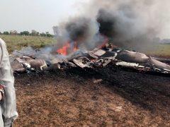 Место катастрофы МиГ-27 ВВС Индии