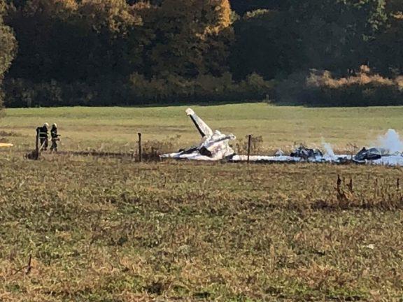 Место аварии L-39