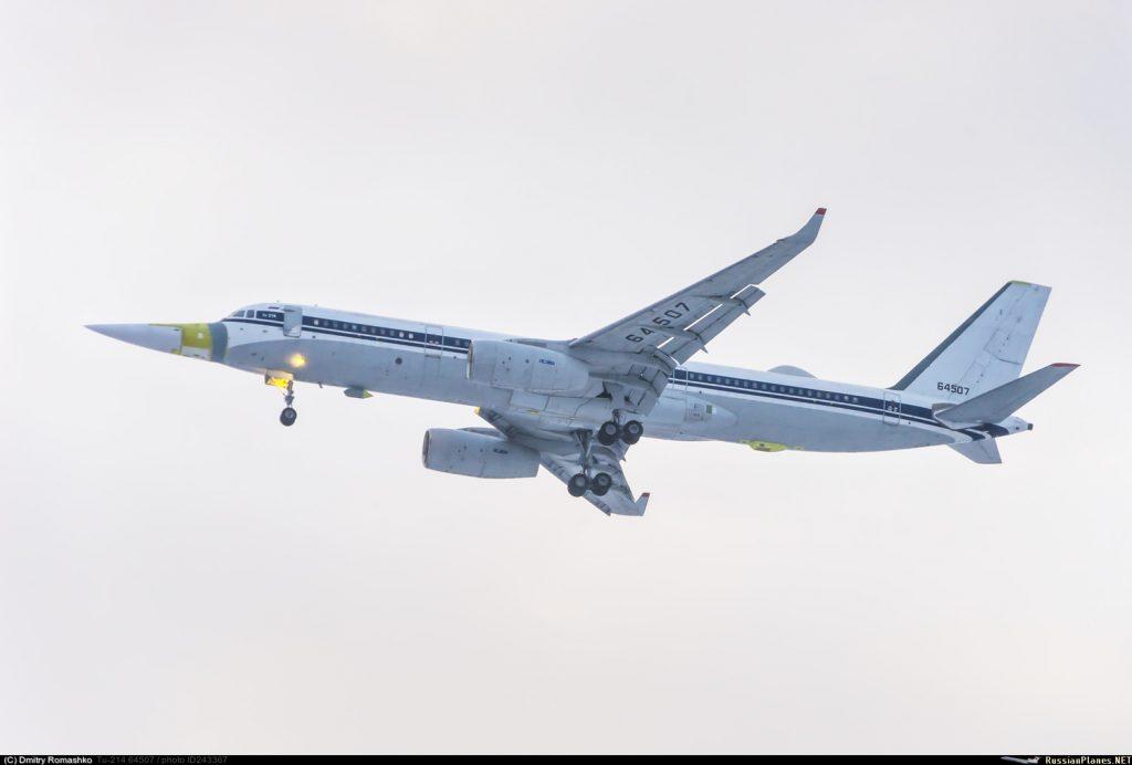 Первый полет Ту-214ЛМК
