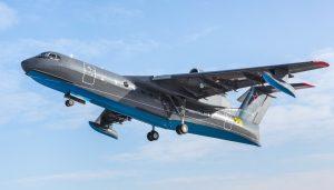 Первый полет Бе-200ЧС для ВМФ РФ