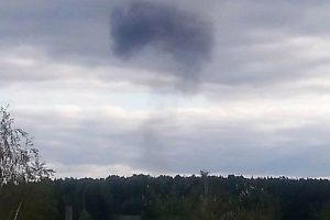 место падения Су-24 в деревне Кривчана Пермского края